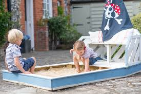 wooden sand pit u0026 bench plum play
