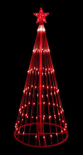Lighted Yard Decorations Amazon Com Northlight 6 Ft Red Led Light Show Cone Christmas