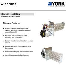 10 kw heat strip for york air handlers click for models w1f1002
