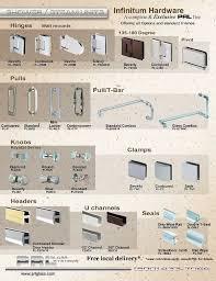 Shower Glass Door Parts Alluring Commercial Glass Door Hardware And Shower Door Hardware