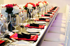 black and white table settings wedding reception decor ideas place setting centerpieces and