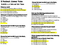 5th grade common core ela multiple choice practice worksheets by