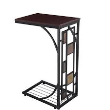 Iron Sofa Table by Amazon Com Tangkula Coffee Tray Side Sofa Table Ottoman Couch