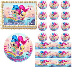 edible cake decorations shimmer and shine party edible cake topper image frosting sheet