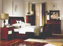 spacious and classic bedroom interior presenting dark brown deluxe