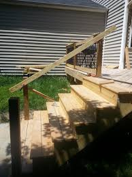 Deck Stair Handrail Height Having Trouble With Deck Stair Rail Height Doityourself Com
