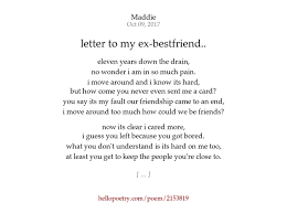 letter to my ex bestfriend by maddie hello poetry