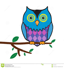 funny owl sitting on a tree branch stock photos image 34387263