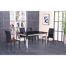 Table Verre Noir Extensible by Max Table Extensible 140 220 Chrome Verre Noir Achat Vente