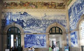 template built in 1900 the station is adorned with many classical murals of azulejos tile
