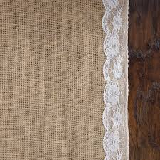 Isle Runner Lace Burlap Aisle Runner Natural For Weddings