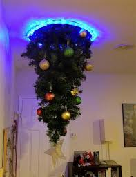 hanging upside down christmas trees reinventing space saving