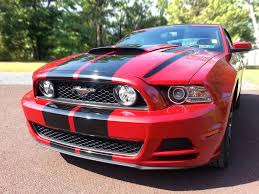 Black Red Mustang Mustang Gt Convertible Stripes Quakertown Pa Signs Banners