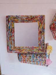 mirror frame decorating ideas decorating diy mirror frame with rolled up magazine pages