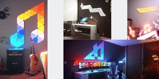 remote audio video lighting nanoleaf offers audio add on to sync aurora light panel to music
