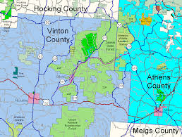 Green Ridge State Forest Map by Athens Area Outdoor Recreation Guide Zaleski State Forest