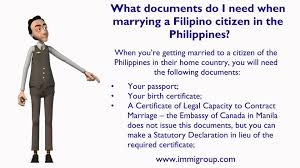 what to get your for wedding what documents do i need when marrying a citizen in the