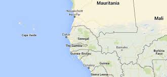 Dakar Senegal Map Senegal Sos Barnebyer