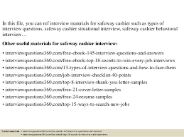 top 10 safeway cashier interview questions and answers