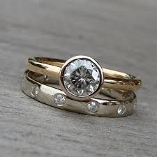white gold engagement ring yellow gold wedding band mismatched engagement rings and wedding bands is okay iaaye