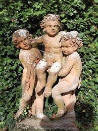 54 best putti images on cherub garden statues and
