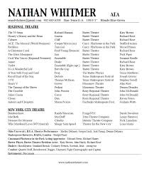 theatre resume acting resume nathan whitmer actor aea acting class stuff