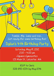 gymnastics birthday party invitations u2013 gangcraft net