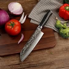 razor sharp kitchen knives sunnecko 7 santoku kitchen knife japanese vg10 razor sharp
