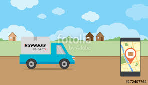 delivery service app express delivery concept delivery service app on mobile phone