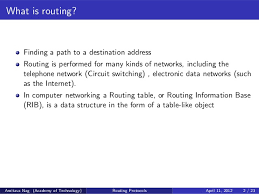 what is routing table routing