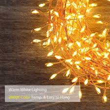 homestarry cluster string lights 10ft 300leds with dimmable remote