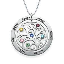 birthstone necklace family tree birthstone necklace mynamenecklace
