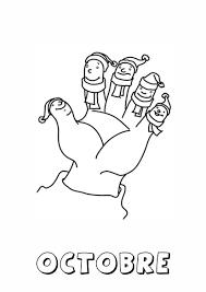 Coloriages doctobre MSGS 20132014  les doigts de la main  kashia