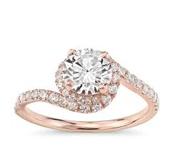 twisted halo engagement ring lhuillier opulence twisting halo engagement ring