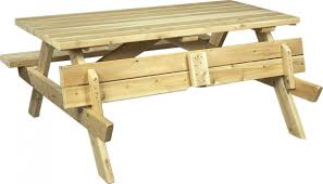 Cedarlooks Cedar Wood Picnic Table Bench With Folding Seats