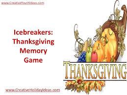 icebreakers thanksgiving memory
