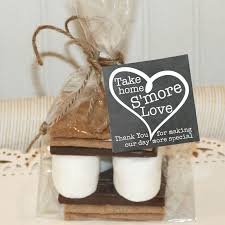 smores wedding favors s more favor kits s mores kit wedding heart polly and ester