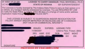 indiana application for handgun license the butler did it