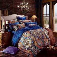 Indian Inspired Bedding Royal Bedding Sets Royal Purple Paisley Park Print Retro Style