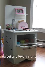 play kitchen from old furniture sweet and lovely crafts january 2011