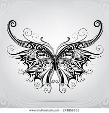 butterfly ornament stock vector 371759071