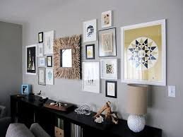 Picture Wall Collage by Living Room Wall Decor Sets Inspirations With Modern Mirror Best