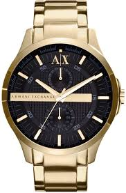 armani stainless steel bracelet images Ax armani exchange watch yellow gold ion plated stainless steel jpg