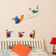 turbo movie decal wall stickers cute kids children bedroom movie see larger image