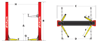 Low Ceiling 2 Post Lift by Challenger 9 000 Lb Low Ceiling Lift