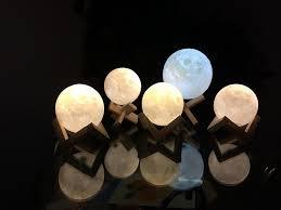 lol lighting 5 9inch luna moon lamp night light 3d touch sensor