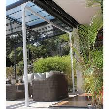 tonnelle en bambou tonnelle autoportante aluminium toit polycarbonate 4x3 5 m azura