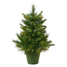 shop vickerman 2 ft pre lit artificial tree with 50 warm