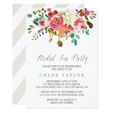 bridal tea party simple floral watercolor bouquet bridal tea party bridal shower