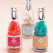 baby shower bottle favors baby silhouette personalized chagne bottle favor 12 pieces